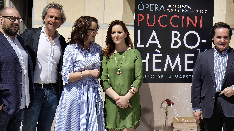Parte del elenco de «La Bohème» que este 28 de mayo cierra la temporada operística del Maestranza