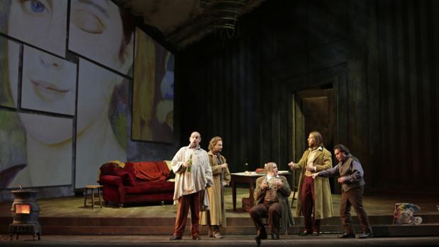 Un momento de la representación de «La Bohème»