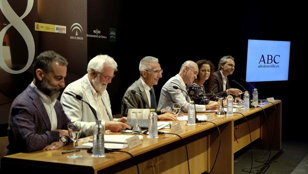 Garde, Moral, Vázquez, Muñoz, Sutil y Halffter, en la presentación del martes