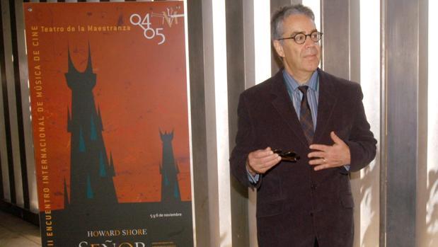 Howard Shore presentando la «Sinfonía del señor de los anillos» en el año 2004