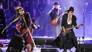 Aerosmith, el jueves durante su actuación en Madrid
