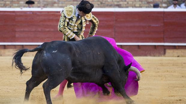 Miguel Ángel Perera remata con una media verónica