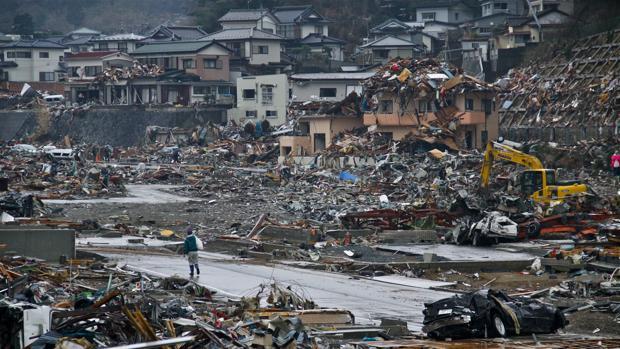 Onagawa, una de las ciudades arrasadas por el tsunami que barrió la costa nororiental de Japón en 2011