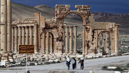 Arco de Triunfo en las ruinas de Palmira, marzo de 2014