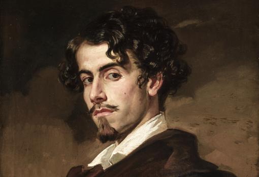 Gustavo Adolfo Bécquer, retratado por su hermano Valeriano en 1862