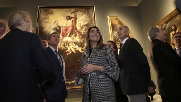 La presidenta Susana Díaz, el alcalde Juan Espadas y autoridades en la inauguración