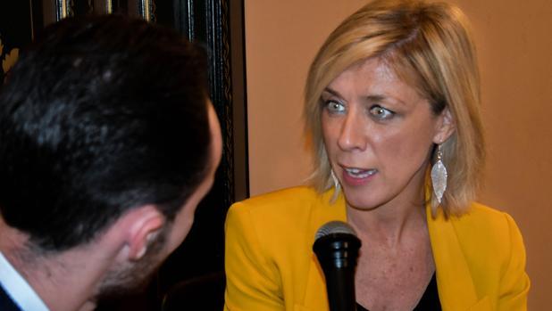 La actriz Eva Isanta durante la entrevista