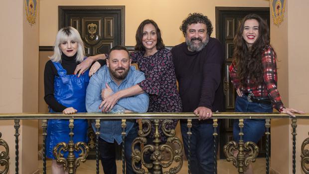 Angy Fernandez, Pepón Nieto, María Barranco, Paco Tous y Marta Guerras