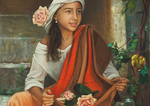 Una de las pinturas de Gonzalo Sánchez Bernal que forman parte de esta exposición