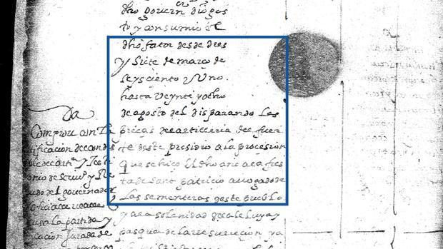 San Patricio y la procesión en su honor en San Agustín aparecen en este documento
