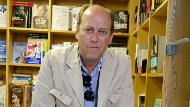 Fernando Carrasco durante la Feria del Libro de 2014