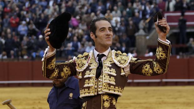 El torero Pepe Moral en el ruedo de Sevilla