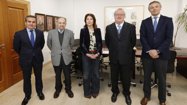 Rafael Herrador, Antonio Burgos, Anabel Morillo, Ramón María Serrera y Alberto García Reyes