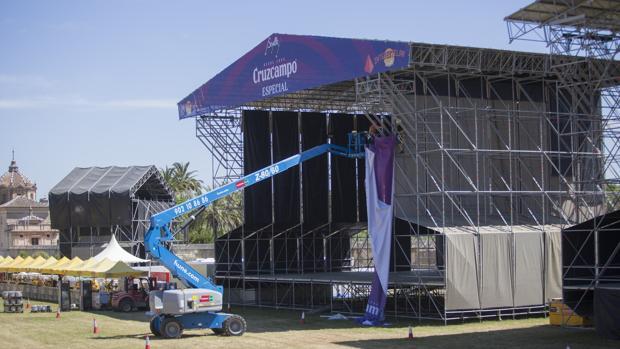 Uno de los escenarios del festival sevillano