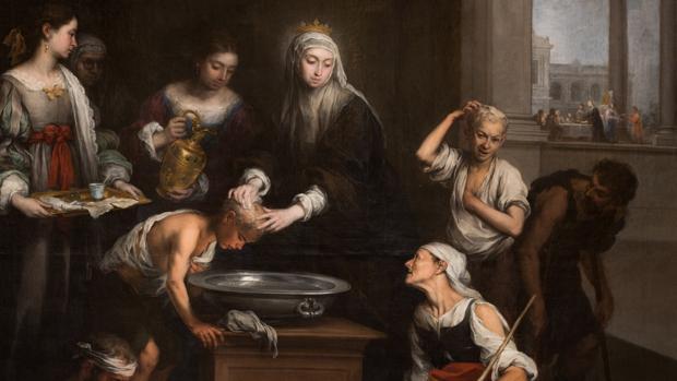 «Santa Isabel de Hungría cuidando a los tiñosos» obra de Murillo en el Hospital de la Caridad