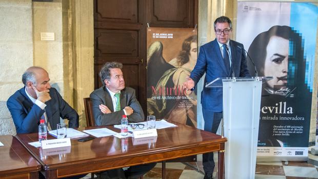 Fernando Benzo, Luis Lafuente y Juan Espadas