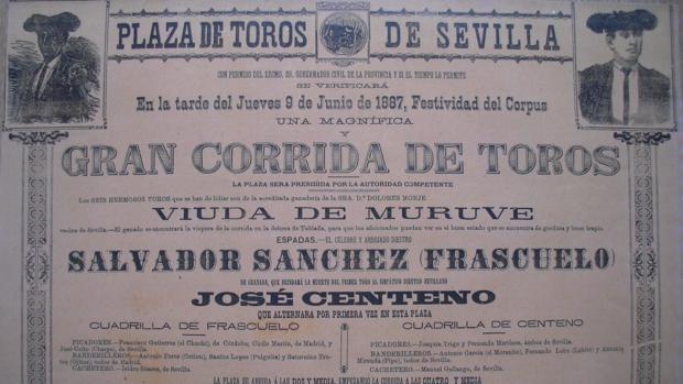 Cartel de la Plaza de Toros de Sevilla