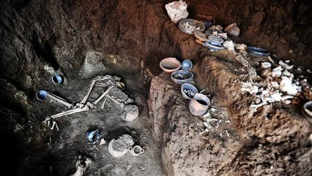 Imagen de la tumba descubierta en Roma