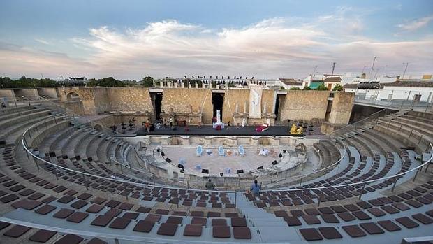 Fotografía del antiguo teatro romano de Itálica