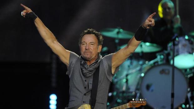 Bruce Springsteen durante su concierto de 2016 en el Santiago Bernabéu