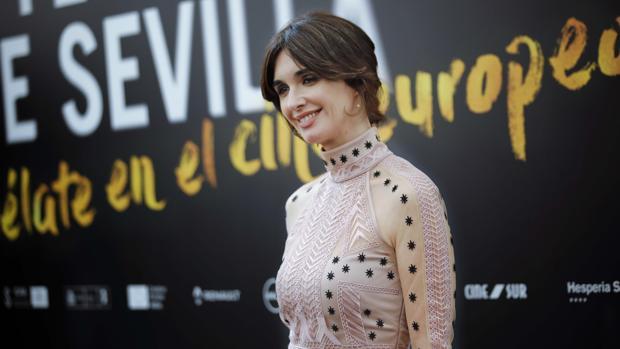 La actriz sevillana Paz Vega, este miércoles en Sevilla