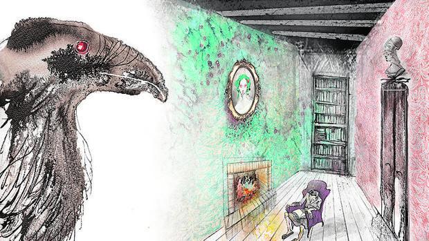 Habitación donde se desarrolla el poema de «El cuervo»