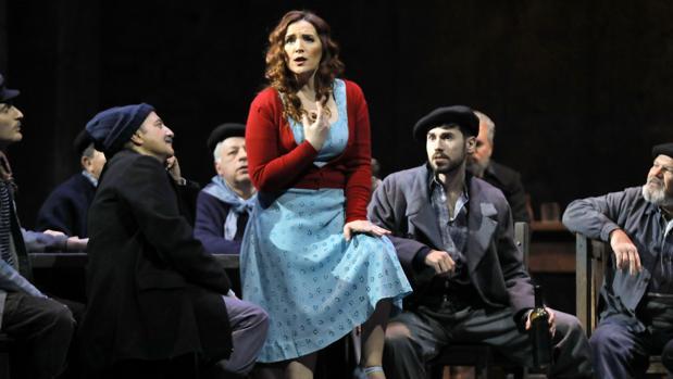 La soprano María José Moreno en un momento de la obra