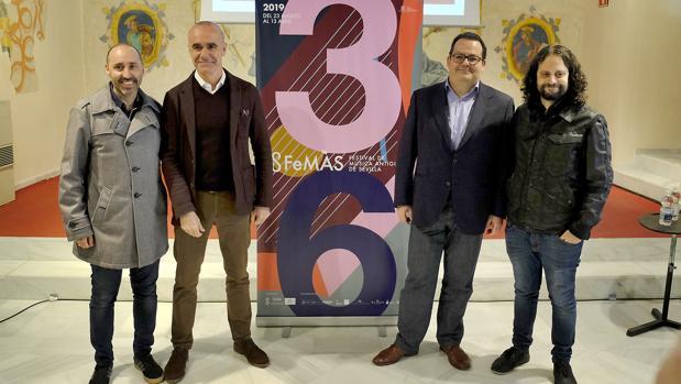 Javier Menéndez, Antonio Muñoz, Francisco Lorenzo y Fahmi Alqhai en la presentación del FeMÀS