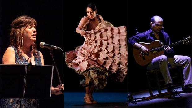 Lole Montoya, Ana Morales y Santiago Lara