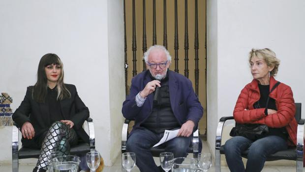 Fernando Francés este miércoles junto a Ana Barriga y Soledad Sevilla
