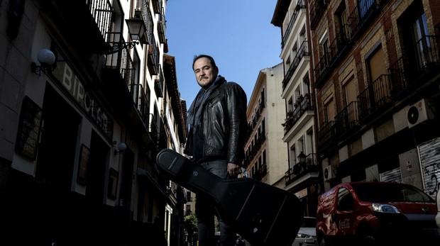 El cantautor Ismael Serrano posa para ABC en Madrid