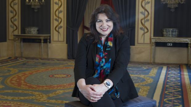 Daniela Barcellona, en una de las salas del Teatro Real