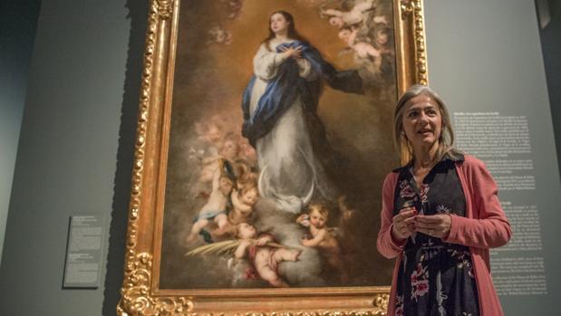 La consejera Patricia del Pozo durante una visita al Museo de Bellas Artes