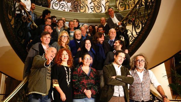 La Junta Directiva salida de las elecciones de noviembre, antes de la salida de Hevia de la presidencia de SGAE