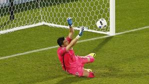 Así «paró» Modric el penalti de Ramos