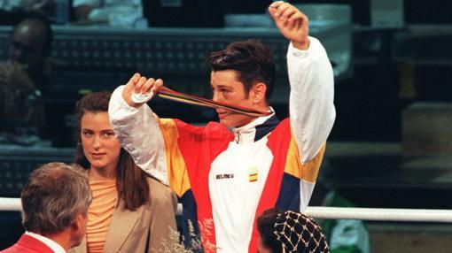 Faustino Reyes, con la medalla de plata