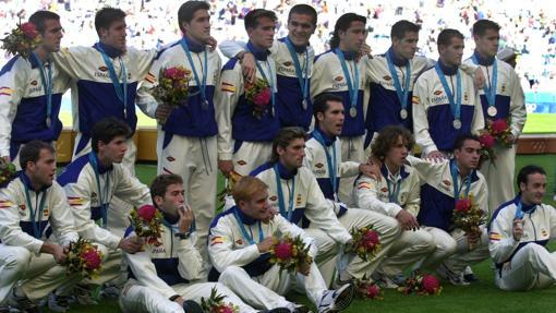 Selección española que ganó la plata en Sidney 2000
