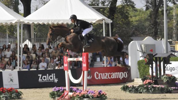 Sergio Álvarez Moya, durante el concurso de saltos