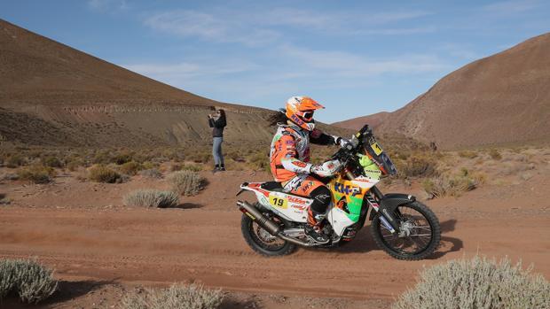 Laia Sanz, en la cuarta etapa