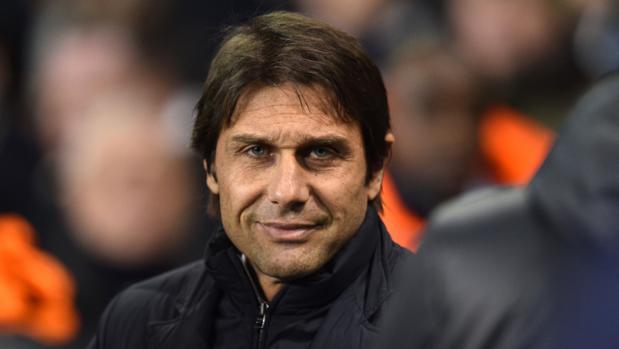 Antonio Conte, en un partido con el Chelsea de esta temporada