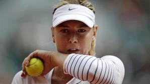 Maria Sharapova, durante el torneo de Roland Garros en 2015