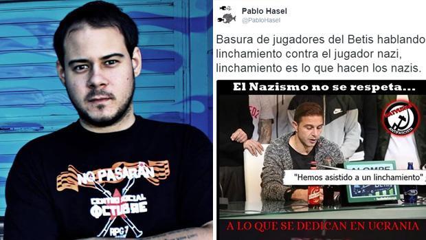 El rapero catalán Pablo Hasel ha deseado que el avión de la plantilla del Betis se estrelle por el caso Zozulia