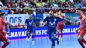 Vergonzosa tangana en el clásico del futsal español