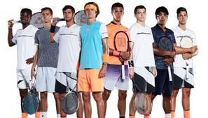 Imagen promocional de la ATP sobre los tenistas del futuro