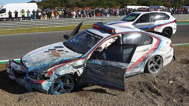 Así quedó el Safety Car en Jerez