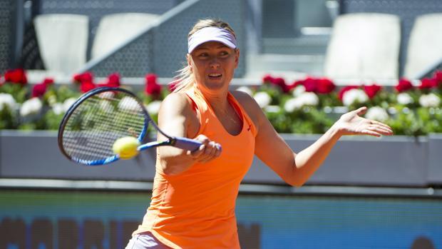 Maria Sharapova durante su primer encuentro en el Mutua Madrid Open