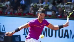 Rafael Nadal, durante un partido del Mutua Madrid Open