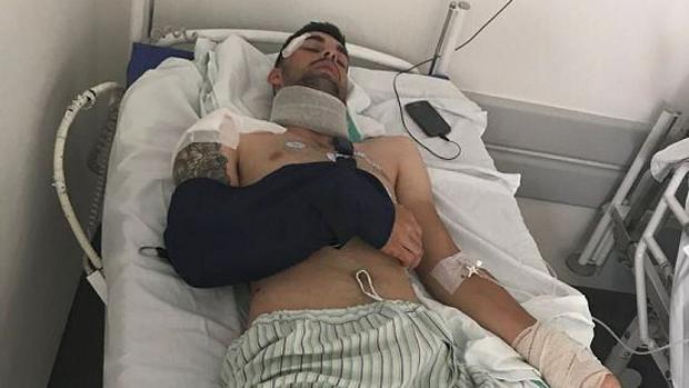 Jesús Alberto Ruiz, el ciclista accidentado