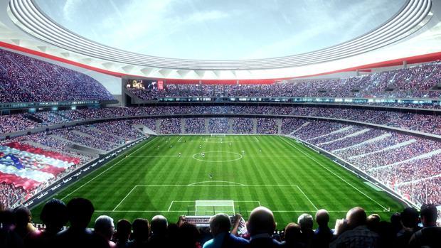 Recreación del futuro estadio Wanda Metropolitano
