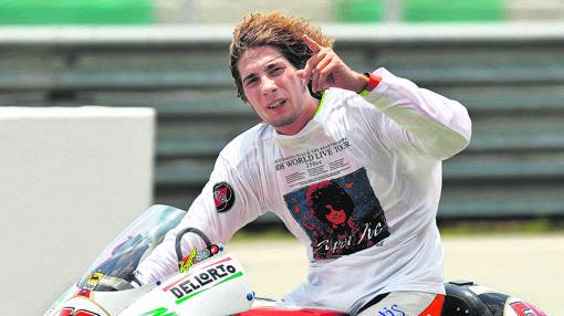 El piloto de MotoGP italiano, Marco Simoncelli
